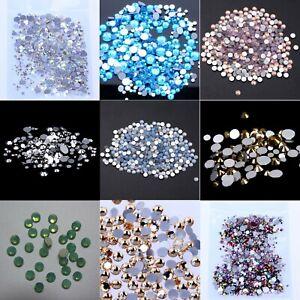 9ab77037d4 Non hotfix Rhinestones FlatBack Glass Stone Glitter Strass Nail Art ...