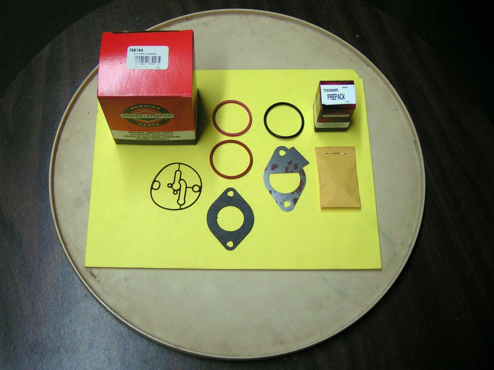 Briggs & Stratton Cocheburador Reparación Kit-B&S parte  796184 - Nuevo Parte