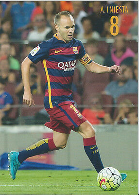 Postal postcard  8 Iniesta acción jug FC BARCELONA 13//14
