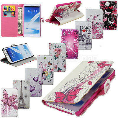 Flower Wallet Stand Flip Leather Case Cover For Samsung Galaxy Note 3 III N9000
