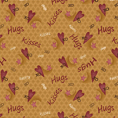 Henry Glass Angels Among Us 7828 33 Words BTY Cotton Fabric FREE US SHIP