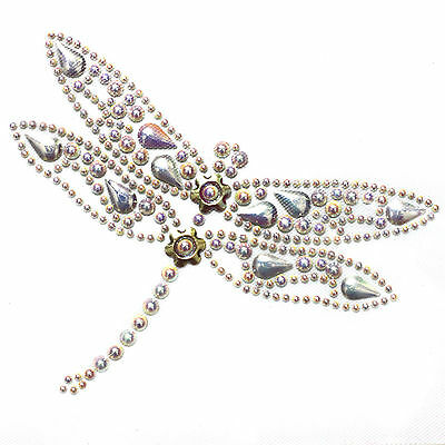 Rhinestone Iron on Transfer Hot fix Motif crystal Fashion Design  Entomology 71
