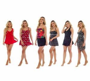6c6cb42960 Women's Swim Dress, Tummy Control Swimsuit Summer Swimwear   eBay