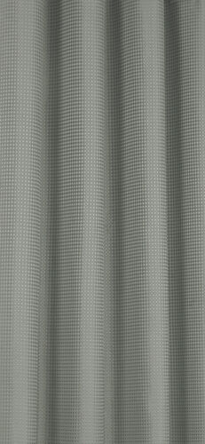 WAFFLE SILVER CURTAINS EYELET RING TOP LINED WINDOW LINEN LOOK DIAMOND GREY
