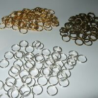 BRONZE SILVER & GOLD SINGLE & DOUBLE JUMP RINGS 4mm 5mm 6mm 7mm 8mm 10mm JR2