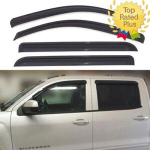 For-2014-2018-Chevy-Silverado-GMC-Sierra-1500-2500-3500-CREW-CAB-Window-Visors