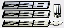Black & Silver 3rd Gen Camaro Z28 Emblem Set Rocker Bumper
