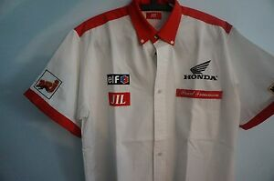 Honda-JIL-Racing-White-Stitched-Short-Sleeves-Shirt-Large