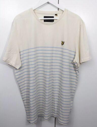 Beige Summer Nwot Strip e Mens Shirt T Taglia Lyle Scott Fashion Xxl Blue YPxBpq