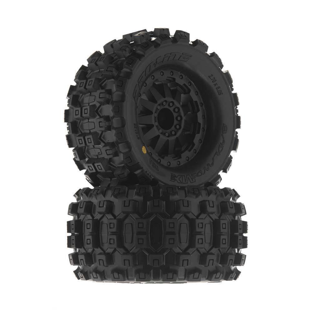 "New Pro-Line F-11 Wheels Wheels Wheels Jato Stampede Rustler PRO w  Badlands MX28 2.8"" Tires 746682"