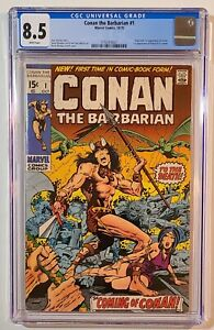 Conan the Barbarian #1 - CGC 8.5 – Marvel 1970 - WHITE Pages – New Slab - BWS