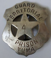 Guard Territorial Prison Yuma Western Badge Of The Old West Pin Bw-37