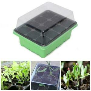 12-Cell-Hole-Seedling-Starter-Tray-Nursery-Seed-Germination-Plants-Q6X0