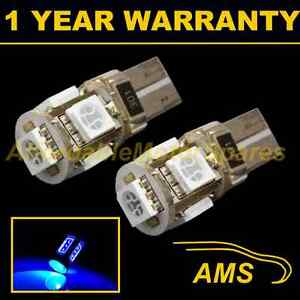2X-W5W-T10-501-CANBUS-ERROR-FREE-BLUE-5-LED-SIDELIGHT-SIDE-LIGHT-BULBS-SL101306