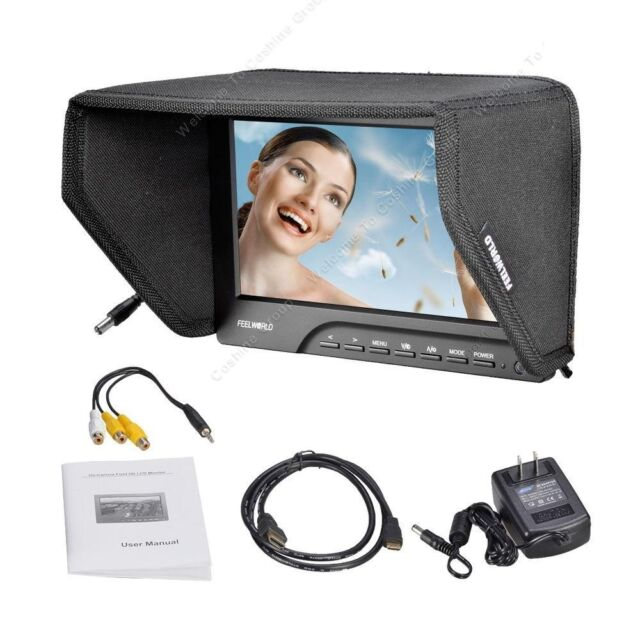 "7""Pro FEELWORLD TFT LCD HD Camera Video Monitor 1080P HDMI Peaking Filter 5D III"