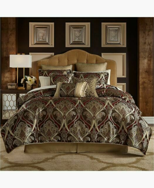 Bradney 4 Piece Queen Comforter Set, Croscill Queen Size Bedding Sets