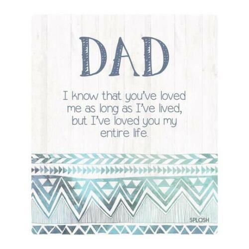 Splosh Bohemian Blue Dad Verse Plaque Hampton/'s Stand Back Mother/'s Day