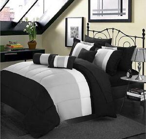 10 piece forter Bed in a Bag Set Sheet Bedroom Bedding