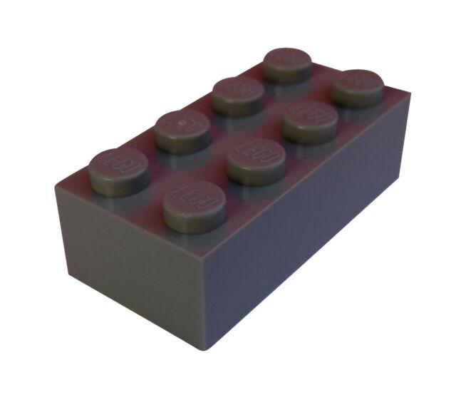 Lego 50 Stück dunkelgraue (dark bluish gray) Steine 2x4 (3001) Stein Basics Neu