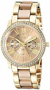 XOXO-Womens-Yellow-And-Rose-Gold-Tone-Watch