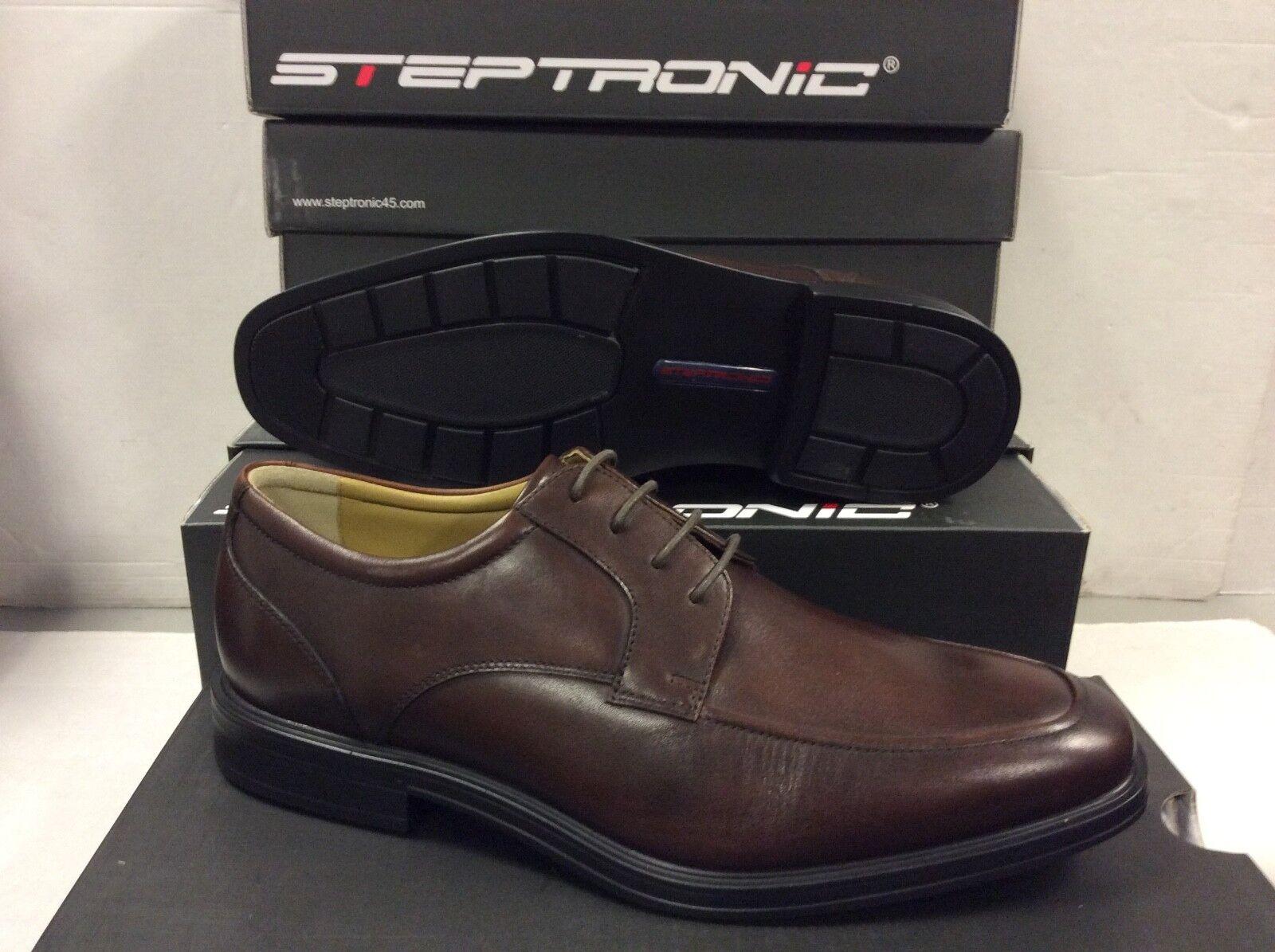 Steptronic Con Cordones Cuero Marrón Profundo Encerado Para hombre Zapatos, Talla  42 euros