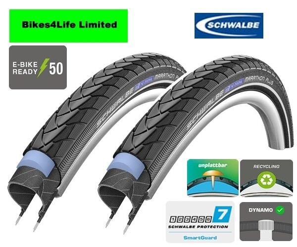 Schwalbe Marathon Plus Touring Rigid Road Bike Tyre 26 x 2.0 Tube Option