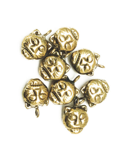 Oxidized Solid Brass 15x10mm Cat Face Charm Findings • Q8 • 32160