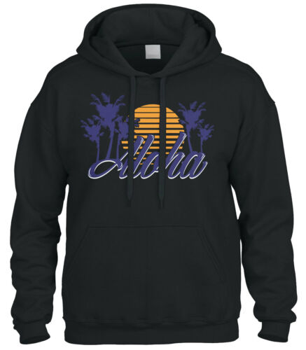 Cybertela Aloha Hawaiian Hi Sunset Palm Tree Sweatshirt Hoodie Hoody