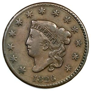 1826-N-3-R-3-Matron-or-Coronet-Head-Large-Cent-Coin-1c