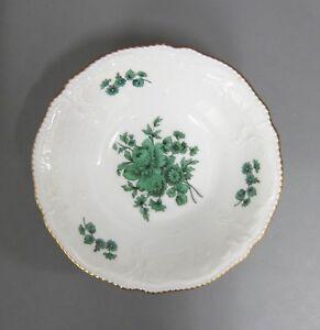 Brotteller D 16 cm Rosenthal Sanssouci  weiß Grüne Blume mit Goldrand