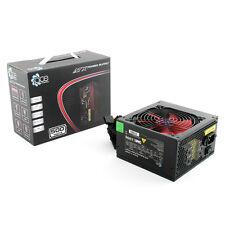 ACE 500W Black ATX Gaming PC PSU Power Supply 120mm Red