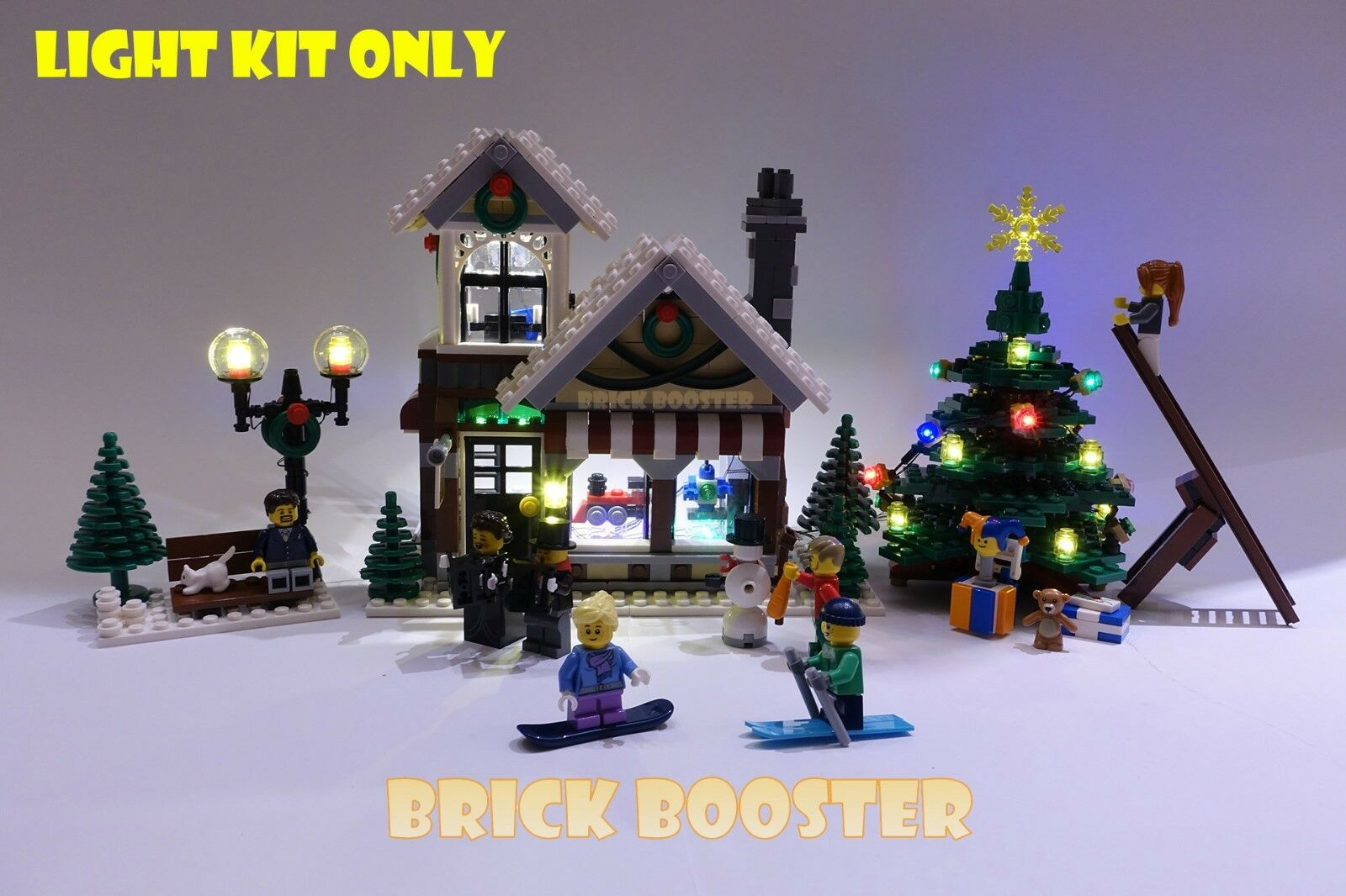 USB Powerot LED Light Kit for Lego 10199   10249 Winter Village Toy Shop