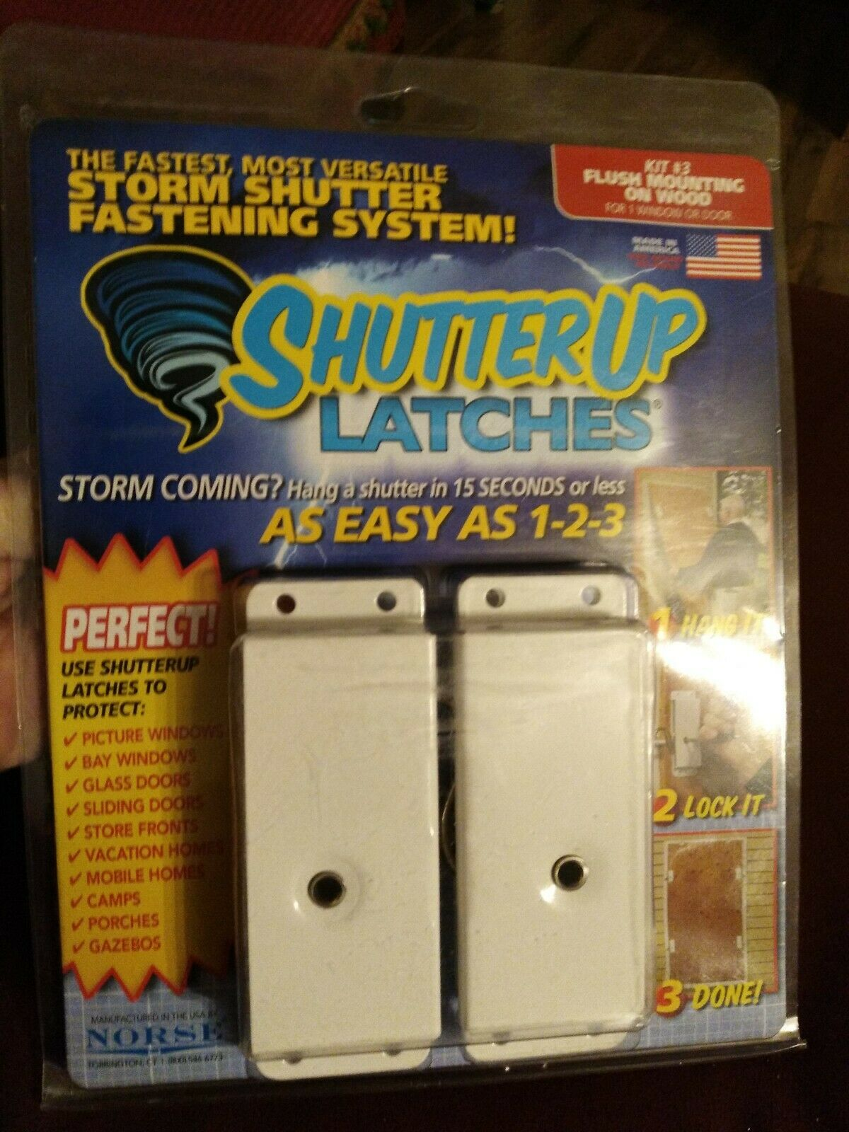 NORSE SHUTTER UP LATCHES - AS EASY AS 1-2-3