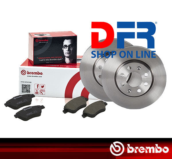 KBB142 DISCHI FRENO E PASTIGLIE BREMBO MERCEDES CLASSE A W168 A140 con 60 kW ANT