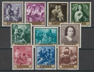 SPAIN-1960-MNH-COMPLETE-SET-SC-SCOTT-921-30-MURILLO-PAINTINGS