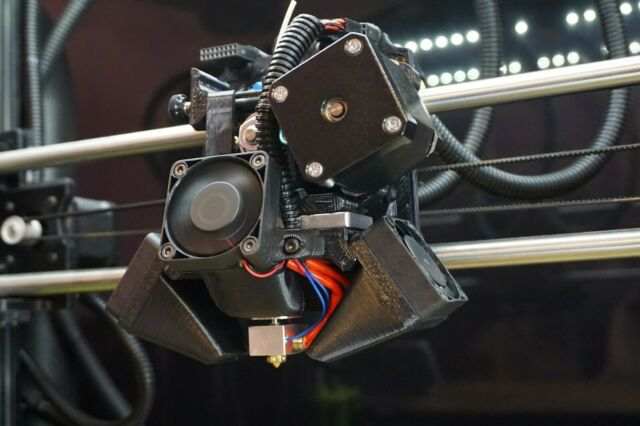 LulzBot Mini 1.75mm Single Extruder Tool Head .5mm Nozzle plug and play