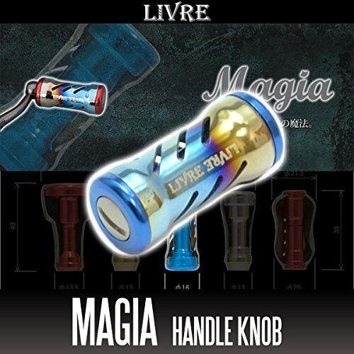LIVRE Magia Titanium Hele Knob 1 piece FIRE  blu