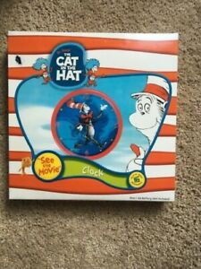 0377b2a3 BRAND NEW Red Round Dr. Seuss Cat in the Hat Wall Clock - New in box ...