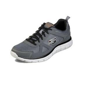 Dettagli su Scarpe Uomo Skechers Con Memory Foam Sneakers Sport Grigio Nero 42 43 44 45 46