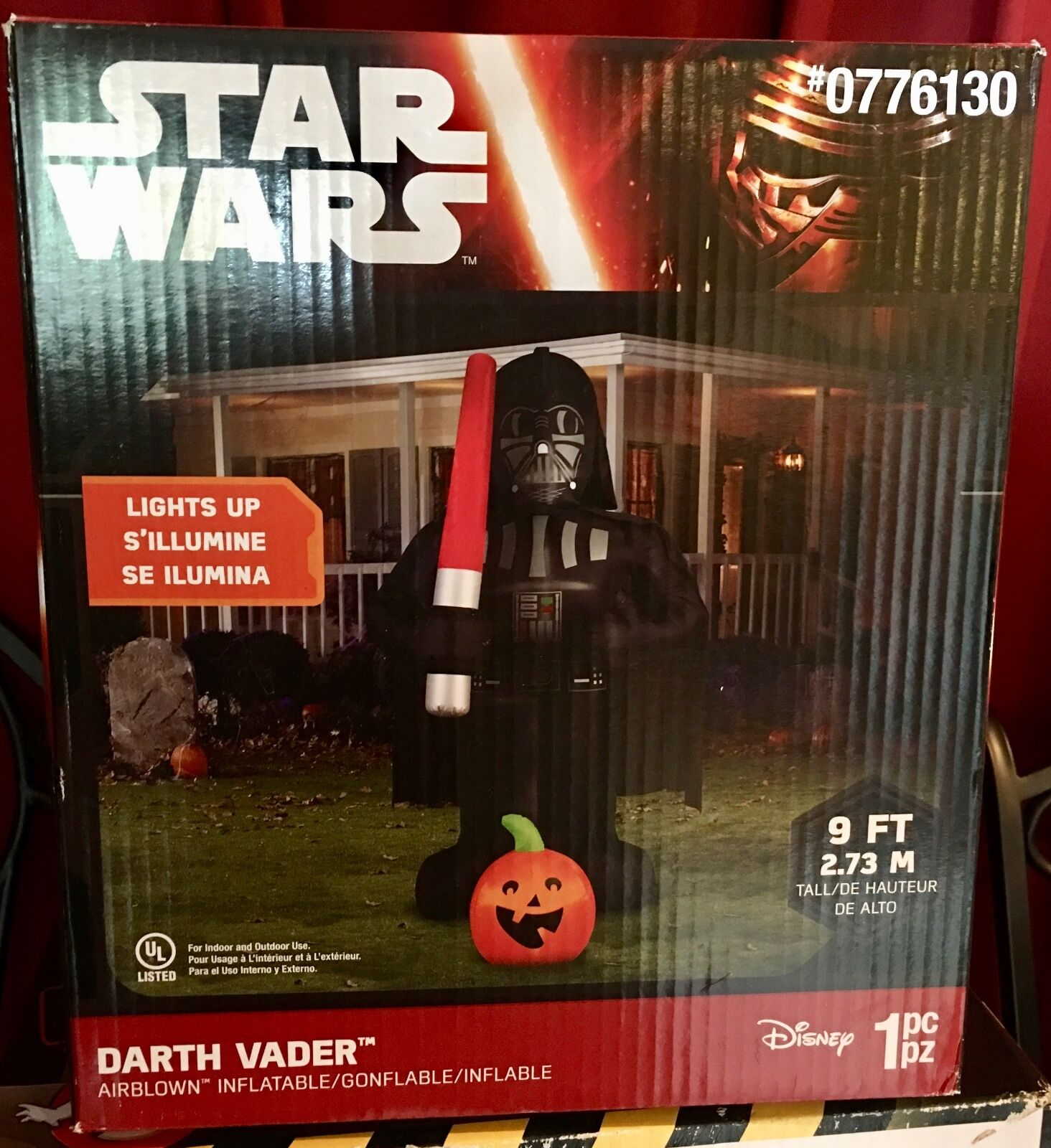 NIBHalloween NIBHalloween NIBHalloween 9 Foot Star Wars Darth Vader with Pumpkin INFLATABLE BLOW UP 23ee09