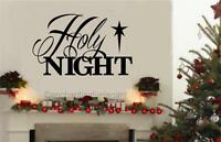 Holy Night Vinyl Decal Wall Sticker Words Letters Christian Christmas Decor