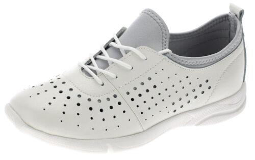 Sneaker Femmes Véritable Cuir Basses Chaussures De Loisirs Lacets Chaussures d/'été 6726