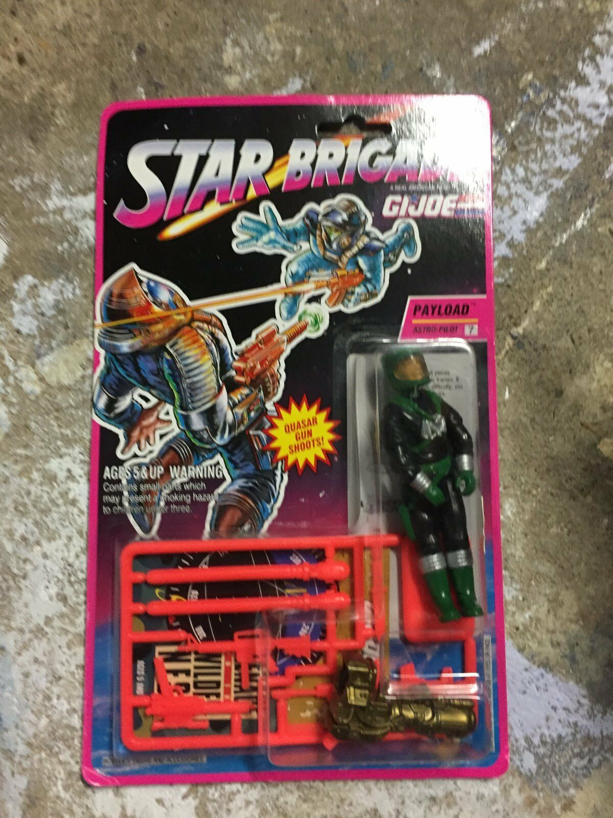 GI Joe Payload 1993 Vintage Action Figure New Sealed Star Brigade