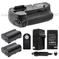 Battery Grip For Nikon D7200 + 2x EN-EL15 Batteries + Charger + Universal Remote