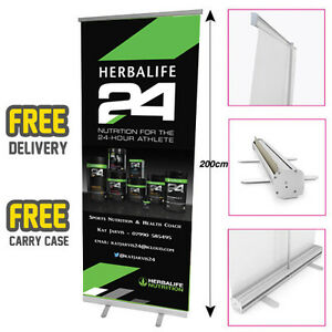 HERBALIFE Printed Roller Banner/Pop/Pul<wbr/>l up Exhibition Stand - HRB05