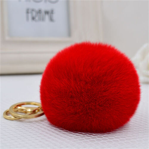Rabbit Ball PomPom Cell Phone Car Keychain Pendant Handbag Cute Key Rin ie