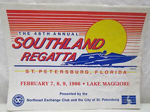 1986 Vintage Boat Racing Schedule 48th Southland Regatta St. Petersburg Florida