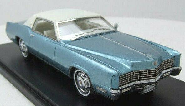 Wonderful  modelcar CADILLAC ELDORADO COUPE - Blaumetallic Weiß - 1 43