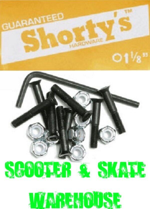 2 Shortys Single Longboard Skateboard Hardware Set