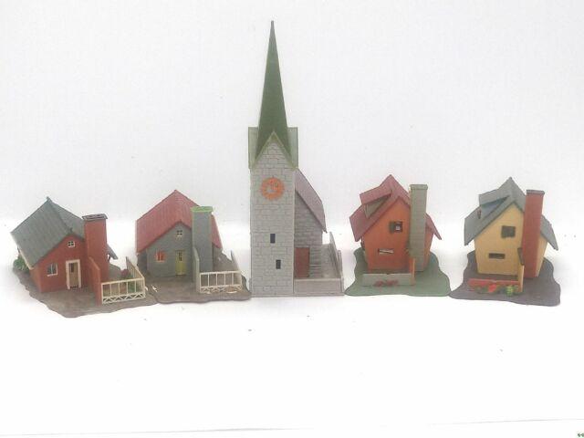 Faller komplettes Dorf Set 1 Kirche 4 Häuser Konvolut Spur N D0052